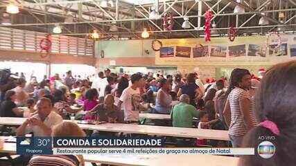 Restaurante Popular oferece almoço de Natal em Belo Horizonte