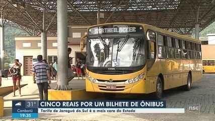 Passagem do transporte coletivo de Jaraguá do Sul passa a ser a mais cara de SC