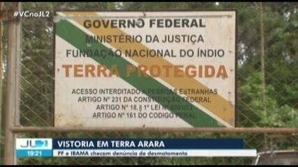 Ibama e Polícia Federal sobrevoam reserva indígena invadida por madeireiros no Pará