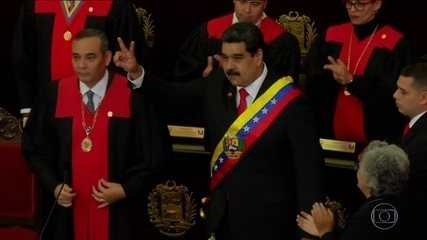 Nicolás Maduro toma posse para segundo mandato na Venezuela