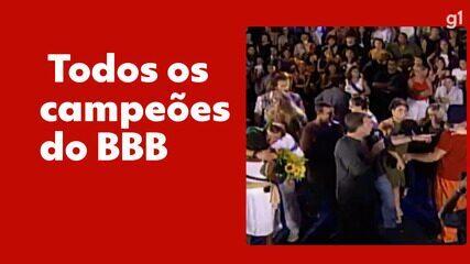 BBB: Relembre quais foram os vencedores de todas as edições