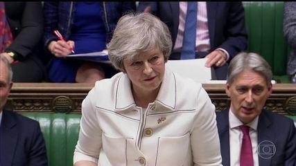 Theresa May faz um último apelo para convencer o parlamento britânico a apoiar o Brexit