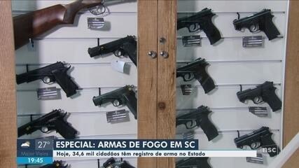 Veja 1ª reportagem sobre realidade da posse de armas em SC