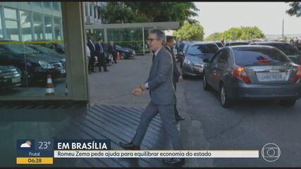 Romeu Zema se reúne com Bolsonaro em Brasília para tratar da dívida de MG com a União