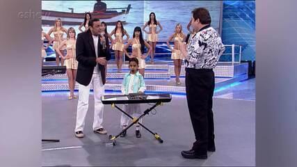 Whadi Gama canta com Frank Aguiar no 'Domingão'!