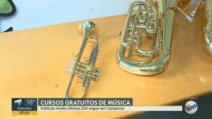 Instituto oferece 254 vagas de cursos gratuitos de música em Campinas