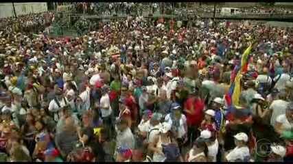 Oposição convoca grande manifestação contra governo Maduro na Venezuela
