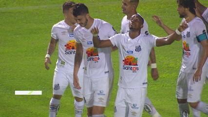 Os gols de São Bento 0 x 4 Santos pela 2ª rodada do Campeonato Paulista