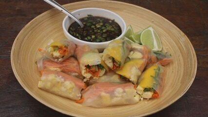 Culinária #013: Aprenda a fazer um rolinho vietnamita