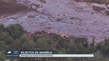 Rompimento de barragem causou enxurrada de lama em Brumadinho