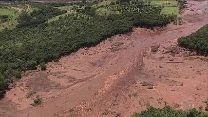 Relembre reportagem do JN em 25.1.2019: Barragem se rompe em Brumadinho, em Minas Gerais