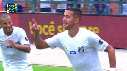 Derlis González faz 2 a 0 para o Santos