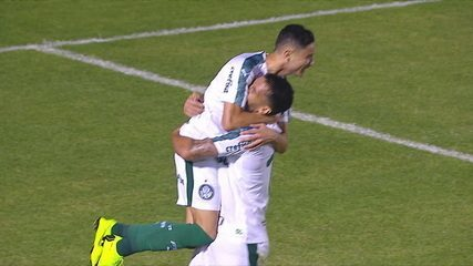Gol do Palmeiras! Jogada na lateral, cruzamento e Luan manda para as redes com 16' do 2º tempo