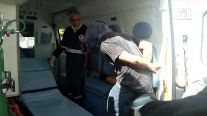 Suspeito de matar PM a tiros após discussão de trânsito é levado para o hospital