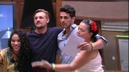 Elana e Diego são escolhidos por Tereza e Maycon para o almoço do Anjo