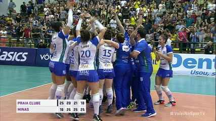 Melhores Momentos: Praia Clube 1 x 3 Minas pela final da Copa Brasil de vôlei feminino