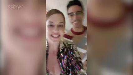 Sophia Abrahão e Sérgio Malheiros parabenizam Claudia Leitte por sua gravidez