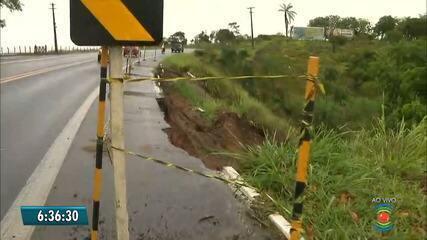 Deslizamento de terra provoca falta d'água em quatro cidades da Paraíba