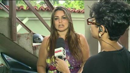 Moradora da Zona Oeste do Rio diz que escapou de enxurrada pela janela de casa