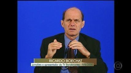 Ricardo Boechat contou ao Memória Globo como começou a carreira
