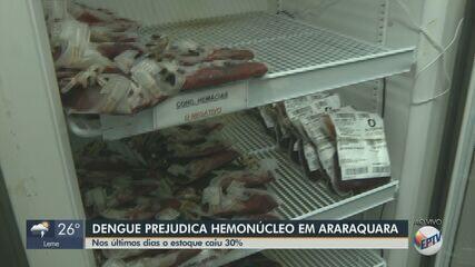 Estoque do Hemonúcleo cai 30% por causa da dengue em Araraquara