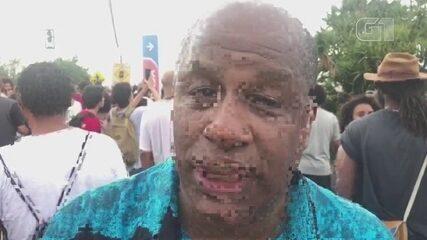 Ator Aírton Graça marca presença em ato contra morte de jovem e pede um basta ao racismo