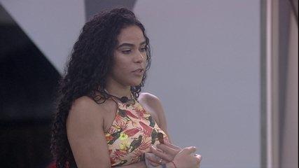 Elana diz que está com sede de ganhar a Prova do Anjo