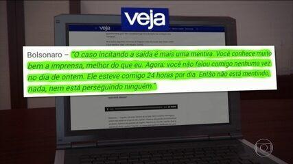 Revista divulga áudios com troca de mensagens entre Bolsonaro e ministro demitido Bebianno