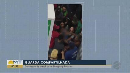Casal discute por causa de filho no Shopping Popular de Cuiabá
