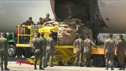 Avião da FAB com ajuda para a Venezuela chega a Boa Vista