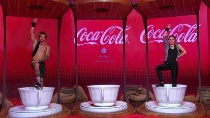 Brothers ficam em silêncio durante a Prova do Líder Coca-Cola com Café