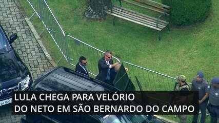 Lula chega para velório do neto em São Bernardo do Campo, SP