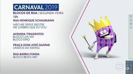 Confira a agenda dos blocos dessa segunda-feira de carnaval em SP