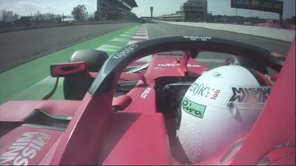 Vá de carona com Vettel na volta mais veloz dos testes de pré-temporada da F1 em Barcelona