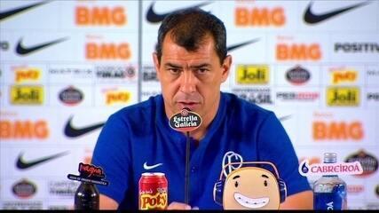 Entrevista do técnico do Corinthians, Fábio Carille, após jogo contra o Santos