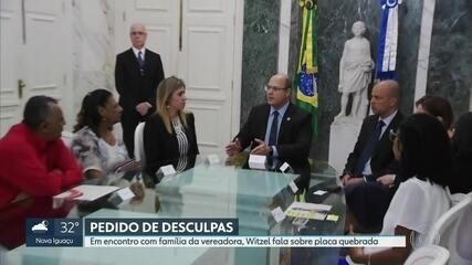 Governador Wilson Witzel se encontra com família de Marielle e Anistia Internacional