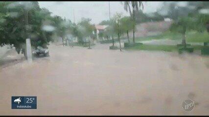 Chuva provocou transtornos em Campinas e Valinhos