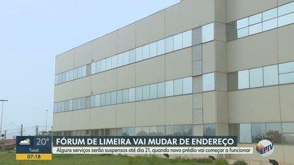 Fórum de Limeira tem suspensão de atendimentos durante mudança de prédio