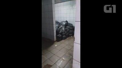 Vídeo mostra ratos andando por área do hospital João Paulo II em Porto Velho