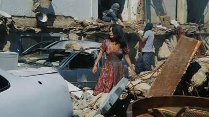 Confira como foi feita a cena pós explosão da casa de Laila