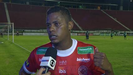 Marcel viralizou na web em entrevista quando defendia o Tupynambás, em derrota para o Atlético-MG