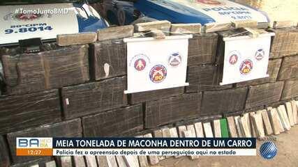 Polícia apreende meia tonelada de maconha dentro de carro em Cândido Sales