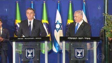 Bolsonaro anuncia criação de escritório de negócios em Jerusalém