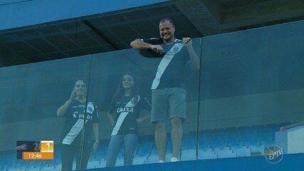 Garoto da base marca primeiro gol como profissional da Ponte com família na arquibancada
