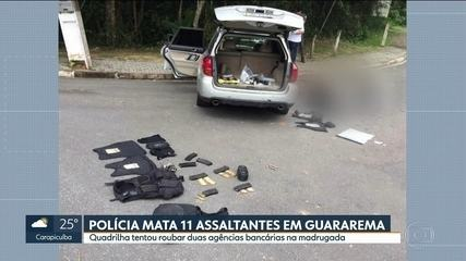 Perícia analisa local da ação de criminosos em Guararema