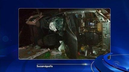 Passageiro morre após motorista embriagado capotar carro em vicinal