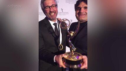 Paulo Silvestrini e Cao Hamburger recebem o Emmy Internacional Kids por 'Malhação - Viva a Diferença'