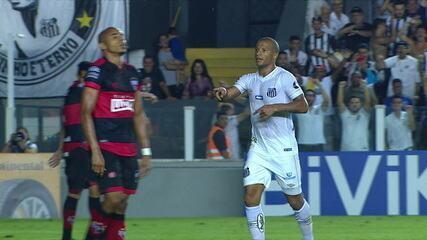 Os gols de Santos 3 x 0 Atlético-GO pela terceira fase da Copa do Brasil
