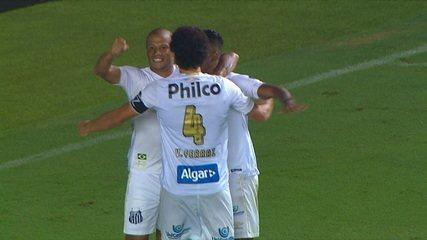 Os gols de Santos 2 x 0 Vasco pela 4ª fase da Copa do Brasil