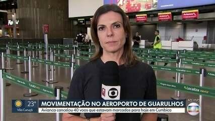 Avianca cancela 40 voos marcado para esta sexta-feira (19) em Cumbica